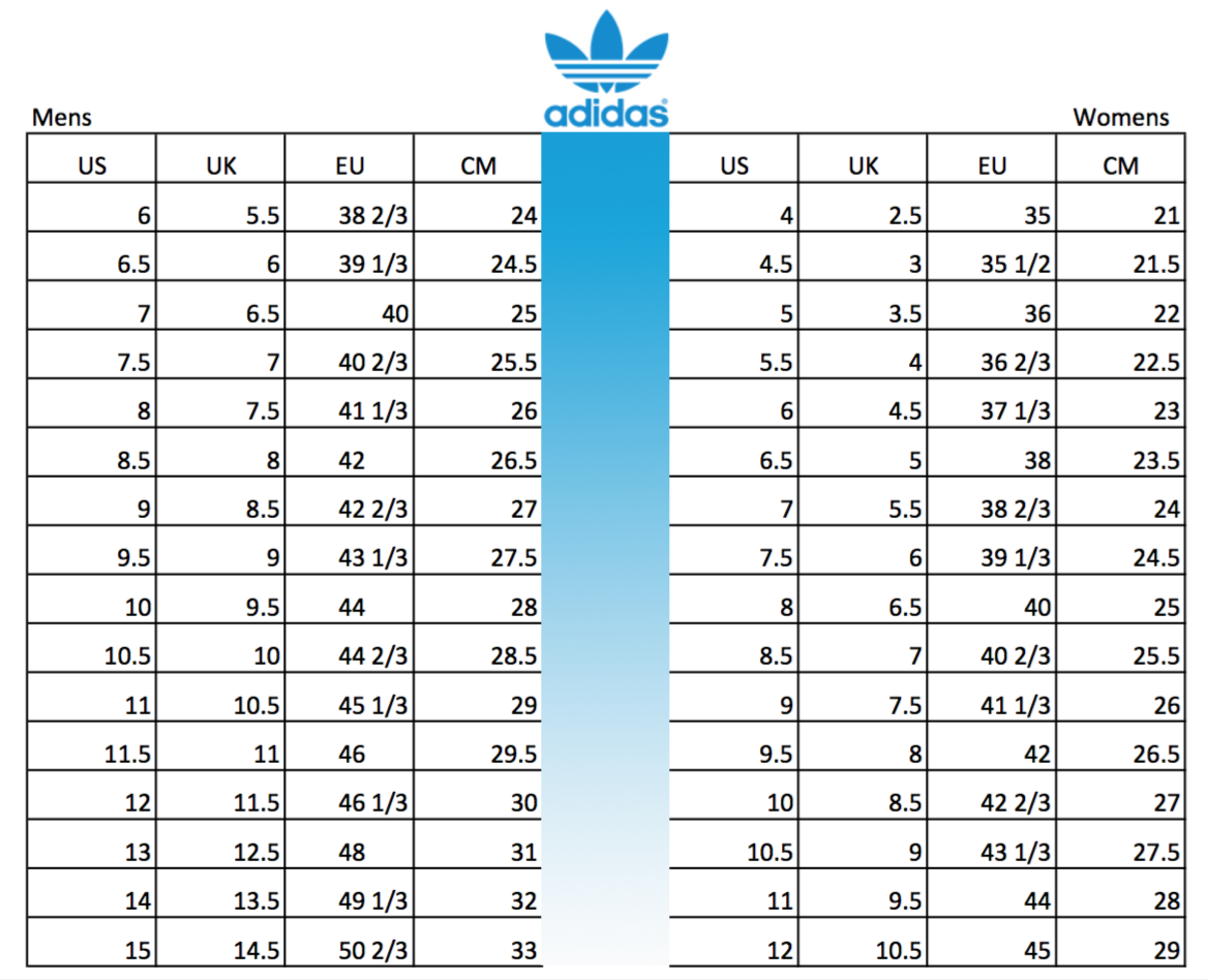 best service 487d4 efaa9 adidas Shoes Size Conversion Chart