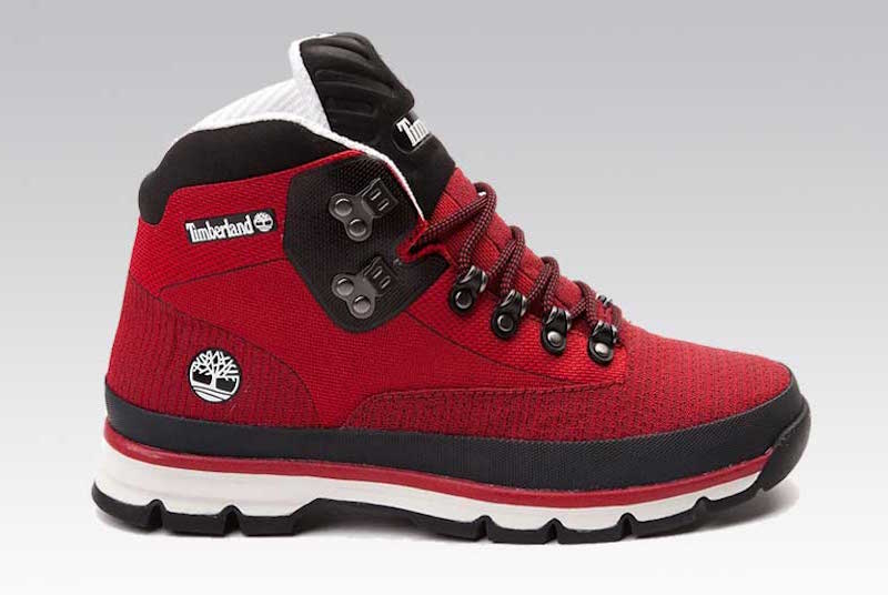 Timberland Euro Hiker Jacquard Red Black