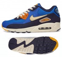 New NIKE Air Max 90 Premium SE Mens blue cream