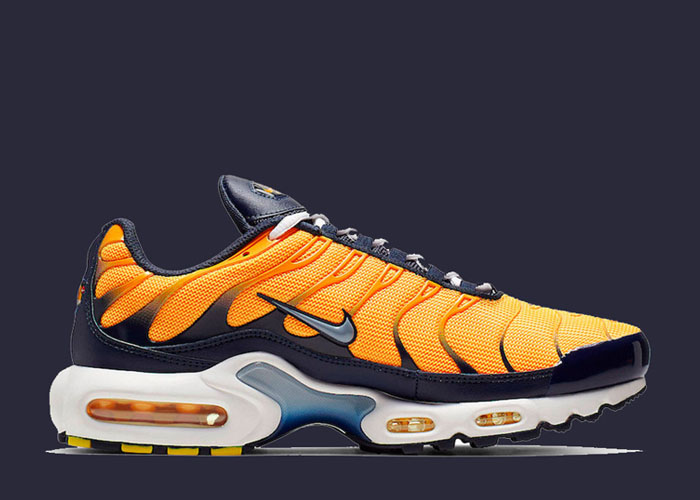 Nike Air Max Plus laser orange midnight navy