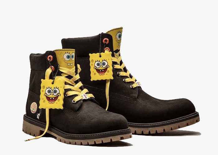 Timberland SpongeBob black yellow