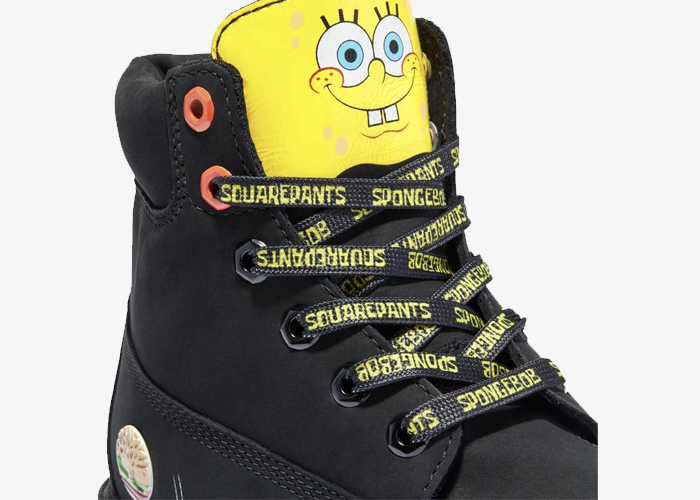 Timberland Spongebob black yellow 2