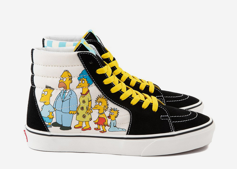 The Simpsons Family SK8 Shoe Vans