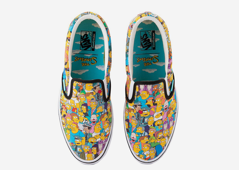 The Simpsons Springfield Slip On Vans